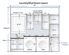 Small laundry room layoutssink to washer to dryer to folding to