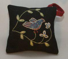 Fågel nåldyna, materialsats