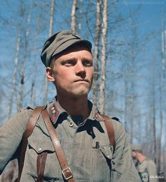 Lauri Törni aka Larry Thorne, you know him. North of Lake Tolvajärvi. June 27, 1944.