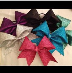Sparkly cheer bows= my life!