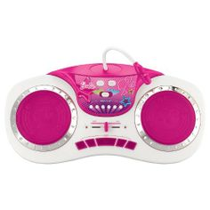 Barbie Mix-It-Up DJ Turntable by KIDdesigns, Inc. $29.99. Use the microphone to sing along or record your own voice to customize your music mixes. Light-up turntables and effect buttons glow as you spin and scratch. Both turntables make their own unique sounds. Includes 20 sound effects. Plug in your own MP3 player (not included) for extra music fun. Choose from 5 songs. From the Manufacturer                Spin your own beats and become a DJ sensation. Freestyle your own creati...