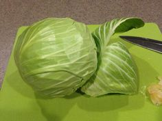 Peel the outer couple leaves from your cabbage. They usually have some dirt on them & can be a little wilty. Baked Cabbage Steaks, Roasted Cabbage, Cooked Cabbage, Braised Cabbage, Vegetable Side Dishes, Vegetable Recipes, Vegetarian Recipes, Cooking Recipes, Healthy Recipes
