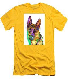Men's T-Shirt (Slim Fit) - Bogart The Shepherd. Pet Series