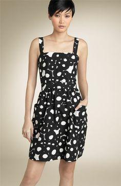 THEORY Womens Black & White Patterned LOUNI - TANGIERS Cotton Dress 4 - Only $60!