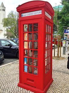 Lisbon - cabine de leitura - Lisboa - Portugal - Praça de Londres - London