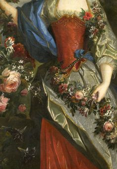 Marie Louise Élisabeth d'Orléans as Flora (detail)Nicolas de LargillièreOil on canvasc. 1712