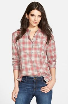Treasure&Bond Plaid High/Low Popover Top available at #Nordstrom