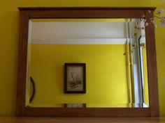 Original-Vintage-Deep-Bevel-Edge-Mirror-Wooden-Frame