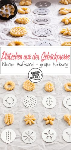 Kekse aus der Gebäckpresse Simple basic recipe for cookies from the pastry press. With my tips and a pastry press you are guaranteed to make wonderful shortbread cookies. Greek Diet, Crockpot, Stuffed Mushrooms, Stuffed Peppers, Cupcakes, Food Test, Cookies Et Biscuits, Baking Biscuits, Shortbread Cookies
