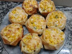 Canastitas de choclo y 4 quesos - Eureka Recetas