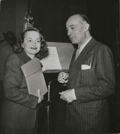 Olivia de Havilland and Charles Boyer at Lux Radio Theatre, 1946