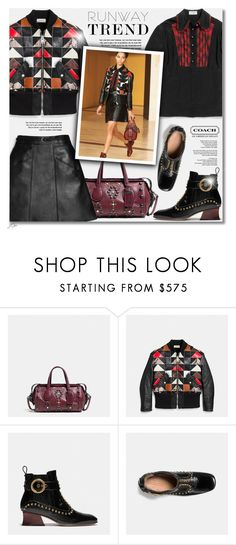 """""""Runway Trend - COACH"""" by jgee67 ❤ liked on Polyvore featuring Coach, NYFW, coach, polyvoreblogger and polyvoreeditorial"""