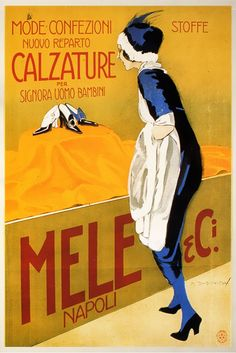 Dudovich, advertisement posters for Grandi Magazzini Mele in Naples
