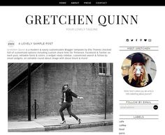 Blogger Template Premade Blog Design  Gretchen Quinn by ElloThemes