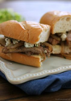 Bistro Style Steak and Onion Sandwich. Find this recipe and more at www.sundaysuppermovement.com. #WeekdaySupper #SundaySupper