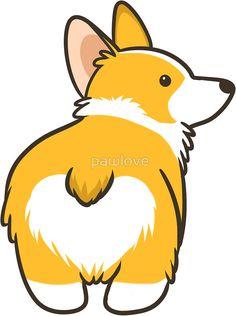 """Corgi Heart Butt"" Stickers by pawlove | Redbubble"