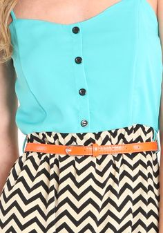 my favorites... love the chevron, turquoise and tan belt combo.