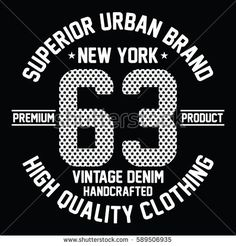 New york city vintage denim, high quality clothing typography, t-shirt graphics, vectors