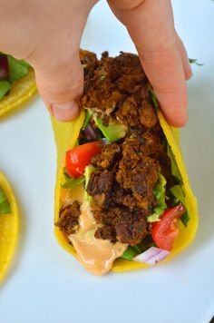 Mushroom-Walnut Tacos with Queso | This Vegan Girl