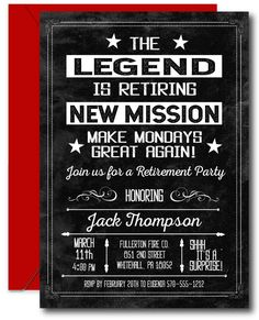 The Legend Retirement Invitation