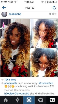 """Good Hair & Co : Versatile Sew -In w/ custom Color. Can be achieved with 2-3 bundles of Good Hair lengths 16"""", 18"""" & 20""""."""