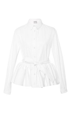 Pleated Peplum Button Up Shirt by ALEXIS MABILLE for Preorder on Moda Operandi