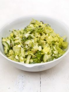 Green Salad | Vegetables Recipes | Jamie Oliver Recipes Going to add avocado Maybe not chop as fine?
