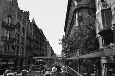 Barcelona - Recorriendo la ciudad en el bus turístico.