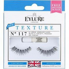 8a2e6f56861 Eylure's Texture No. 117 are a long, angled lash with a twisty, messed up  finish. This set offers light weight lashes, adhesive and the best part  they are ...