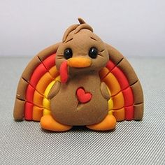 Image detail for -Polymer Clay Turkey Pin | Jen Gilbert's Pottery and Ceramics