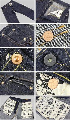 AMURAI JEANS ( Samurai jeans ) Automobile Club back paint jeans [2014]…