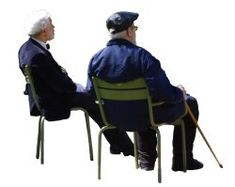 People cutouts: Elderly Group Sitting 0001 cutout download