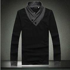 Men's Fashion Casual Long Sleeve T-shirt – USD $ 29.39
