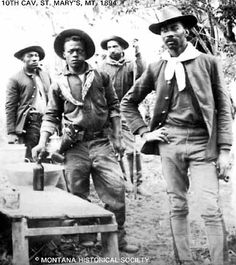 "Black cowboys of the late From the plantations of the South to the plains of Texas, black cowboys made their mark on the subduing of the vast western territories, keeping the peace with indigenous peoples, ""putting out fires"" as buffalo soldiers se Black History Facts, Us History, African American History, Black History Month, History Books, Ancient History, History Class, History Photos, British History"