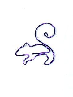 Chipmunk segnalibro a colori di Wirelings su Etsy