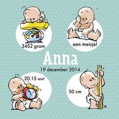 Een meisje! - Babykaartje www.carddreams.be