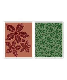 Look at this #zulilyfind! Tim Holtz Poinsettia Pattern Texture Fades Embossing Set #zulilyfinds
