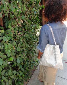 DIY: Snakeskin Handbag Inspired By Jimmy, Bottega, M.Kors And All The Rest