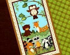 Baby Quilt Panel Kits | Blue Jungle Animals Cot Quilt Panel ... : baby cot panels for quilting - Adamdwight.com