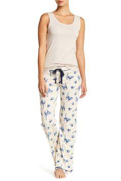 Printed Knit Lounge Pants