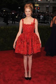 Happiness is a great dress. (emma stone in lanvin)