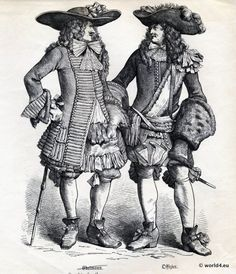 Baroque period costumes under the influence of the French king Louis XIV. 17th Century Clothing, 17th Century Fashion, 18th Century, Louis Xiv, Historical Costume, Historical Clothing, Historical Dress, Baroque Fashion, French Fashion