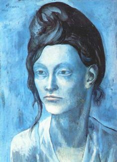 A blue period painting by Picasso #picasso #art