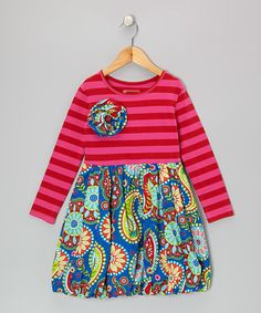 Take a look at this Royal Blue & Red Olivia Dress - Infant, Toddler & Girls by Mustard Pie on #zulily today!