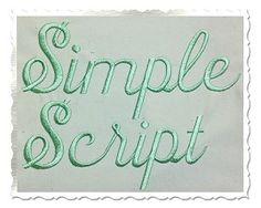 Simple Script Machine Embroidery Font Alphabet