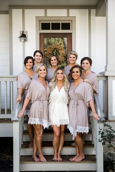 Plum Pretty Sugar's solid bridesmaid robes and bridal robes with trim are a beautiful wedding robe option. Effortless, feminine and crafted to last beyond the wedding, these bridesmaid robes and bridal robes also multi-task as pool cover ups. Bridesmaid Get Ready Outfit, Bridesmaid Getting Ready, Getting Ready Wedding, Bridal Robes Getting Ready, Bridesmaids And Groomsmen, Wedding Bridesmaids, Bridesmaid Dresses, Wedding Dresses, Wedding Day Robes