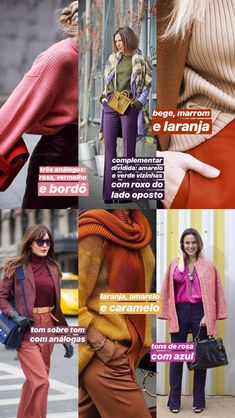 ideias de como misturar três cores em um look! Colour Combinations Fashion, Looks Style, My Style, Colourful Outfits, Branding, Daily Fashion, Autumn Winter Fashion, Winter Outfits, What To Wear