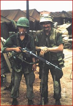 Round hit the stock just under the connector arm and bounced off, saving the Marine's life as he was shooting at the time... ~ Vietnam War