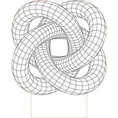 Torus illusion vector file for CNC - Laser Art, 3d Laser, 3d Illusion Art, 3d Illusion Drawing, Gravure Laser, 3d Optical Illusions, 3d Cnc, Geometric Drawing, Collage Design
