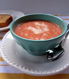 creamy tomato soup - Carmen, pin this now!